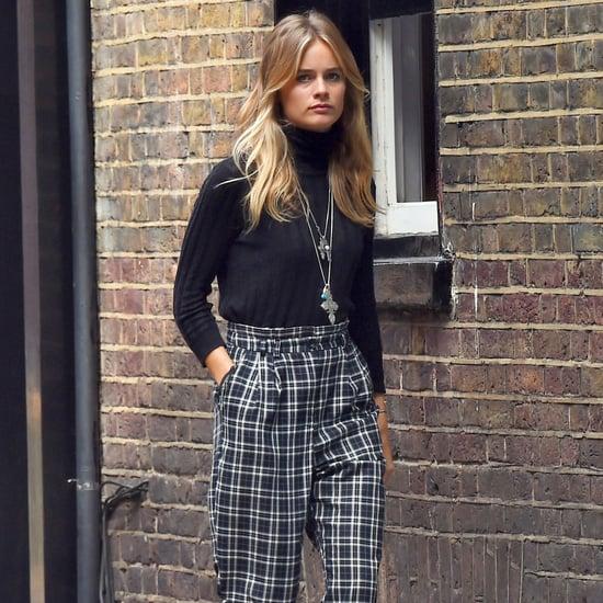 Cressida Bonas's Plaid Pants Street Style