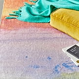 Watercolor Sunset Chenille Rug
