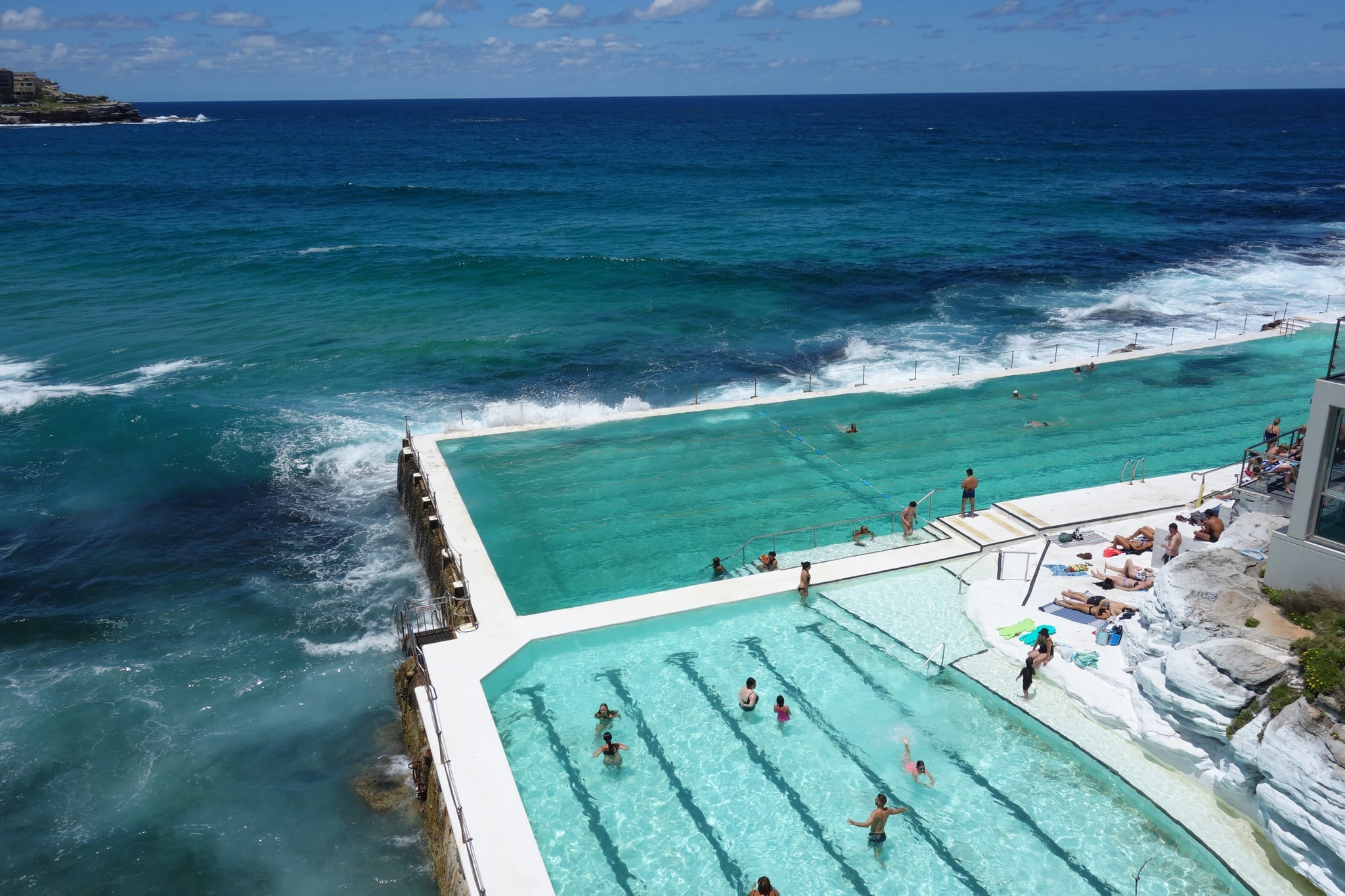 The Icebergs Pool At Sydneyu0027s Bondi Beach Emerges Out Of Dream. The Massive  Saltwater Pool And Adjacent Kiddie Pool Appear As You Walk North Along  Bondiu0027s ...