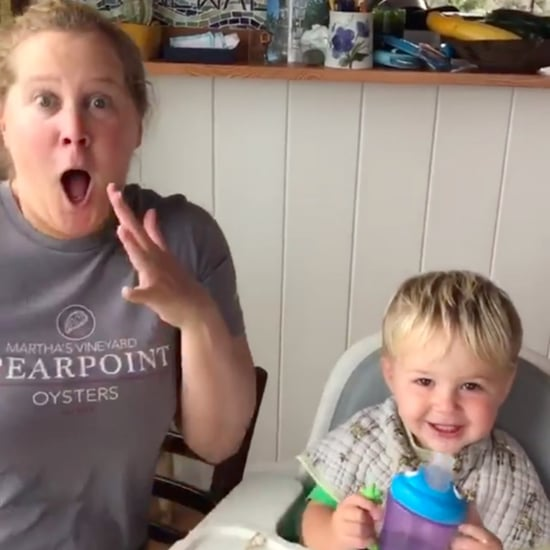 "Amy Schumer's Video of Her Son's First Time Saying ""Dad"""
