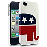 Those on the right can proudly promote their cause with this Republican Elephant Case ($25).