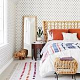 Coral Velvet Fringe Euro Pillow