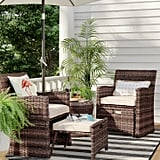 Halsted 5-Piece Wicker Small Space Patio Furniture Set