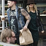 Nicole Richie went arm-in-arm with Joel Madden to grab coffee.