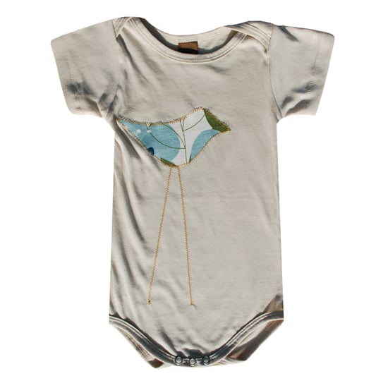Your little bird will look adorable in this Zebi Blue Floral Bird Organic Bodysuit ($28). Rather than using iron-on appliqués, the bird is made from organic cotton, and its legs are fashioned from cross-stitchings.