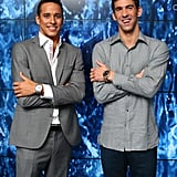 Michael Phelps laughed with Chad le Clos at the Spotlight on Swimming party.