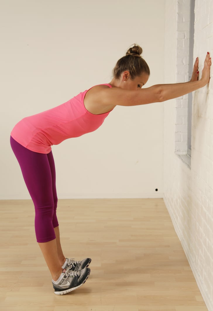 Calf And Shoulder Stretch At The Wall Best Calf