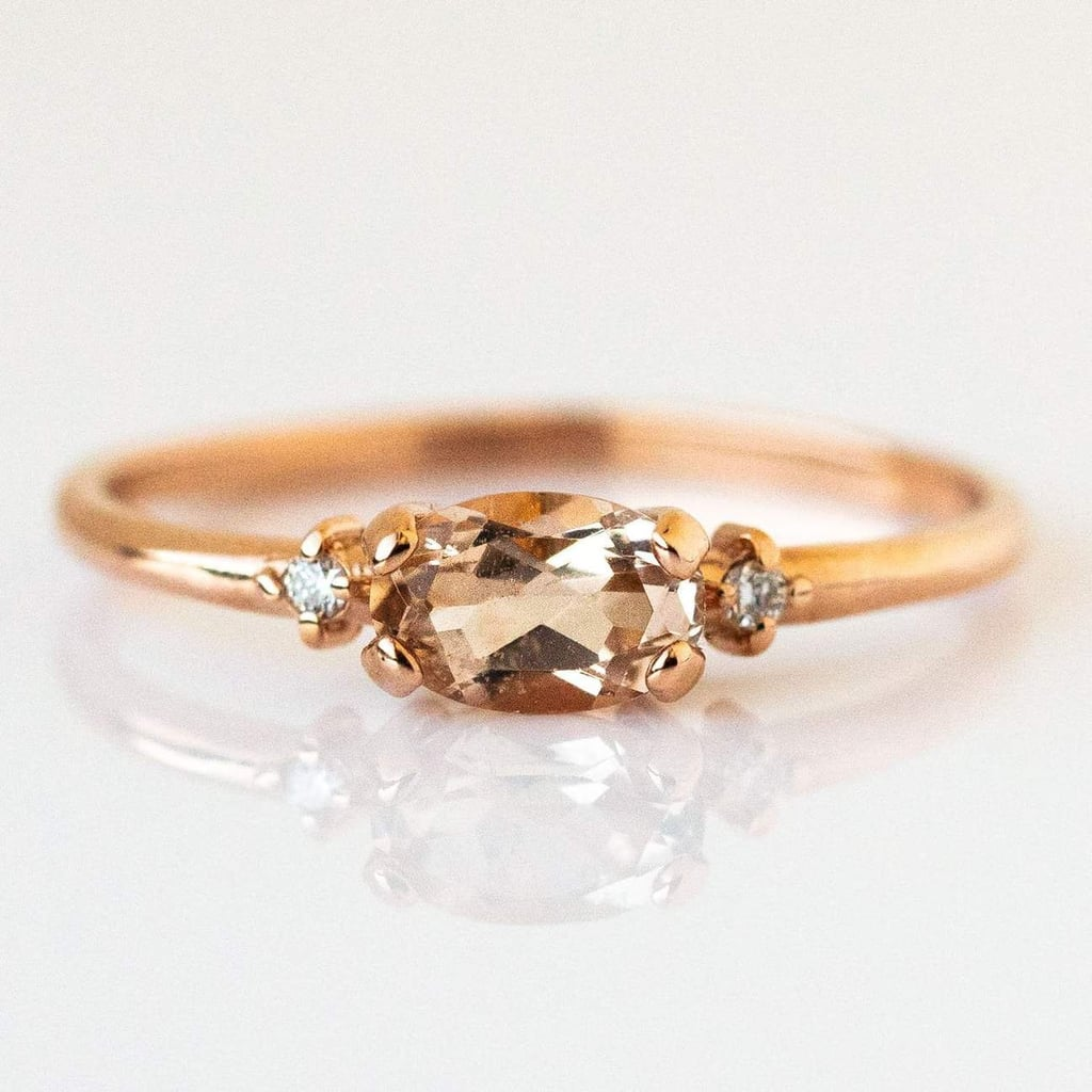 East and West Morganite Ring