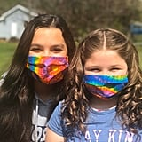 Bright Tie-Dye Spiral Rainbow Cloth Face Mask