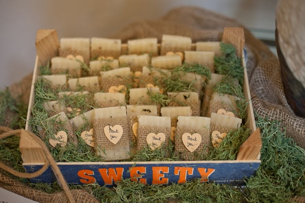Favors | Rustic-Themed Wedding