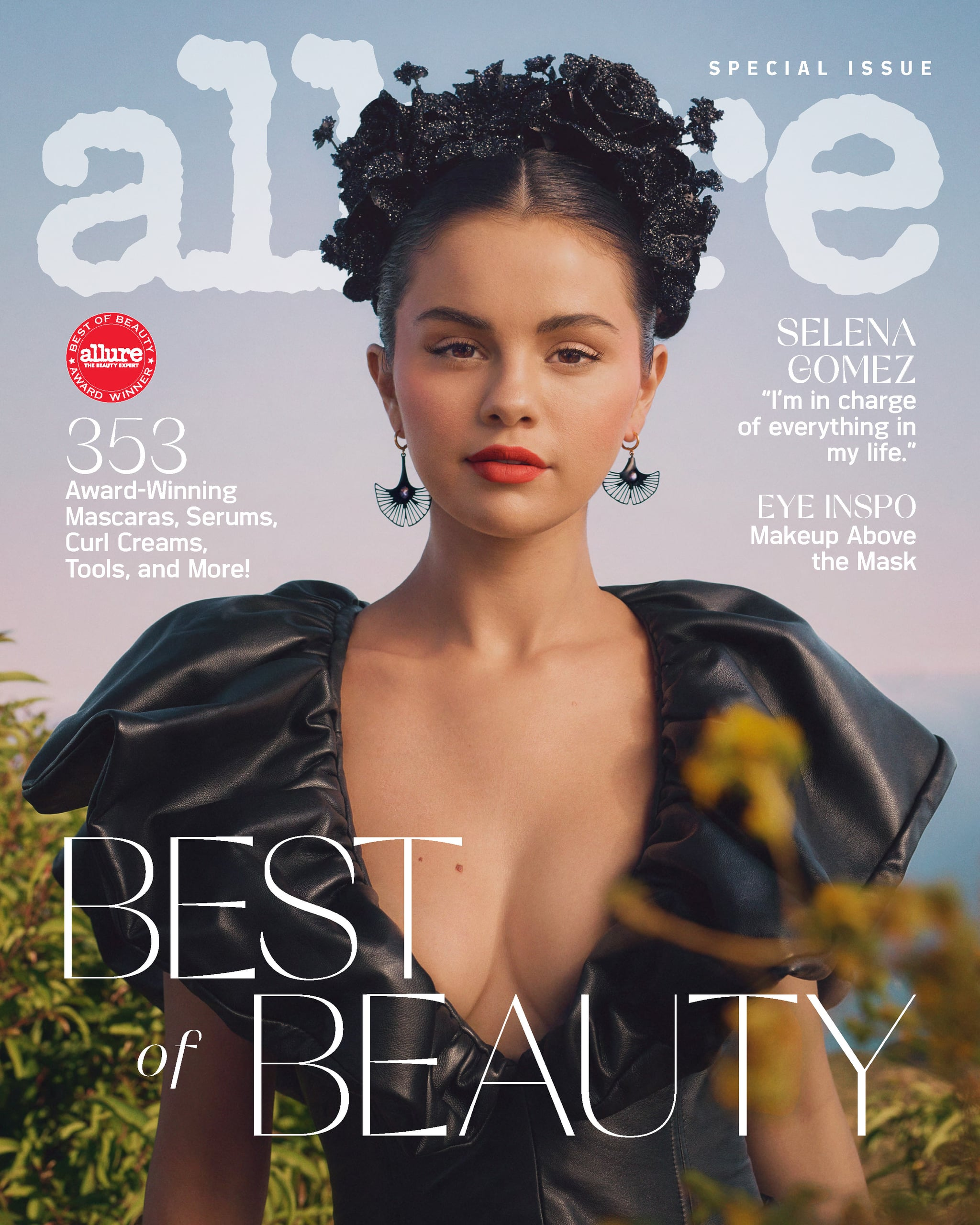 """Selena Gomez said on Miley Cyrus's Bright Minded show back in April that she's gone to treatment a few times for anxiety and depression, """"and for other stuff that I'd been struggling with"""" — and during one of those times at McLean Hospital, she was diagnosed with bipolar disorder. Now, in a new interview for Allure's October 2020 """"Best of Beauty"""" cover story, Gomez says she's still processing her diagnosis.  """"I have always had so many different emotions and I didn't know how to control them quite well,"""" Gomez stated. """"It was complicated. But I think I'm happy to understand it."""" Learning more about bipolar disorder, which affects 2.8 percent of Americans (about 5.7 million people), has actually helped her.  """"Once I did find out more about who I was, I was proud,"""" Gomez explained. """"I also felt comfortable knowing that I wasn't alone, and I was going to get through it. So I will always be passionate about that. It's something I will continue to talk about.""""  At McLean Hospital back in 2019, Gomez accepted an award for her mental health advocacy. She said that it took intense work on herself and with the guidance of professionals, but she is healthier, happier, and """"in control"""" of her emotions and thoughts more than ever before. """"I think that we are better when we tell the truth,"""" she stated at the time, """"and so this is my truth."""""""