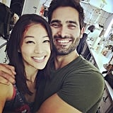 "Arden Cho: ""Had so much fun shooting the finale. Late nights on set but we're still cheeeesin! #teenwolf"""