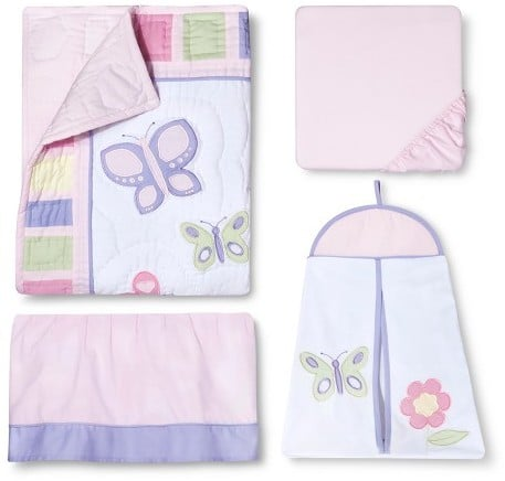 Sweet Jojo Designs 11pc Butterfly Crib Set