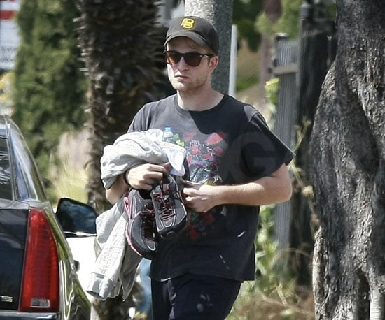Slide Picture of Robert Pattinson Leaving Gym in LA