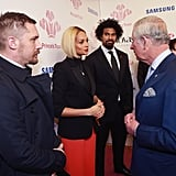Tom Hardy Looks Like He's Getting in Trouble While Meeting Prince Charles