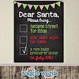 Dear Santa Checklist Poster