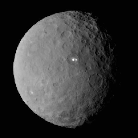 NASA Photo of Bright Spot on Planet Ceres