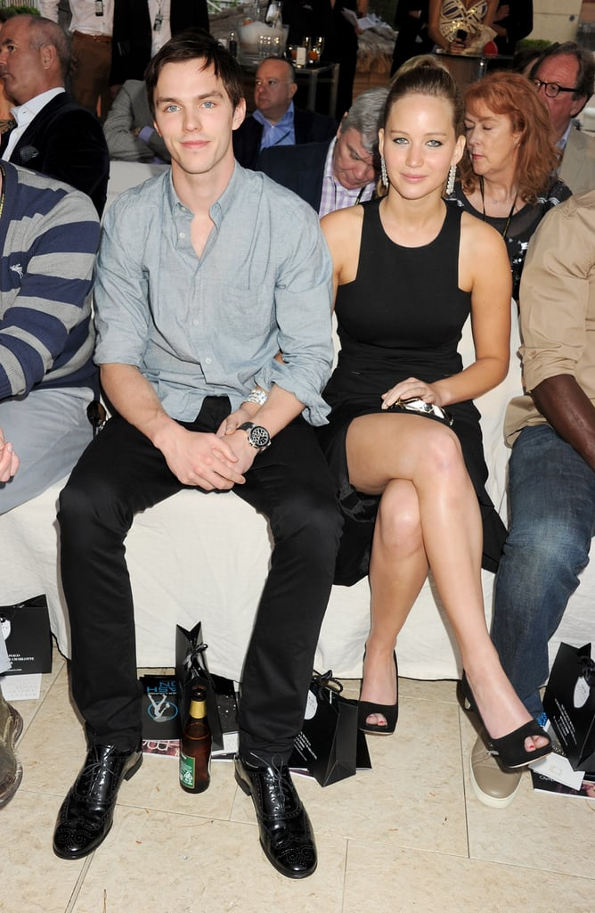 Nicholas Hoult and Jennifer Lawrence in 2012
