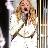 Madonna sang during Macklemore's performance.