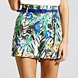 Girls on Film hibiscus print shorts (£32)