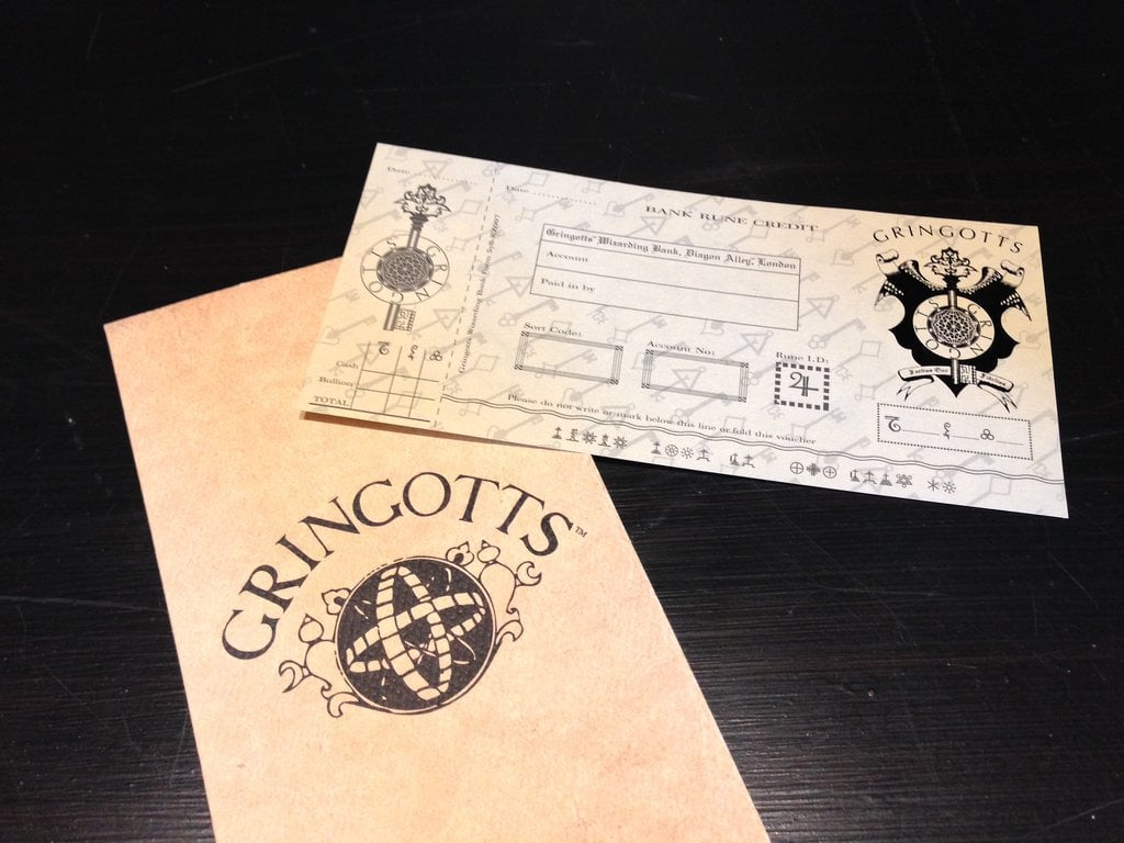 You can exchange your muggle money for Gringotts bank notes.