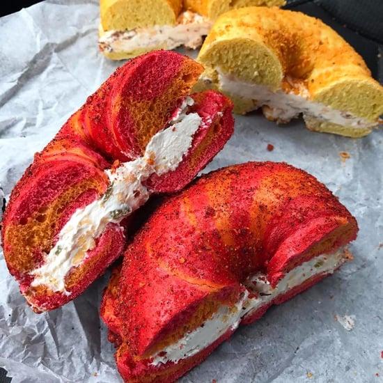 Flamin' Hot Cheetos and Doritos Bagels
