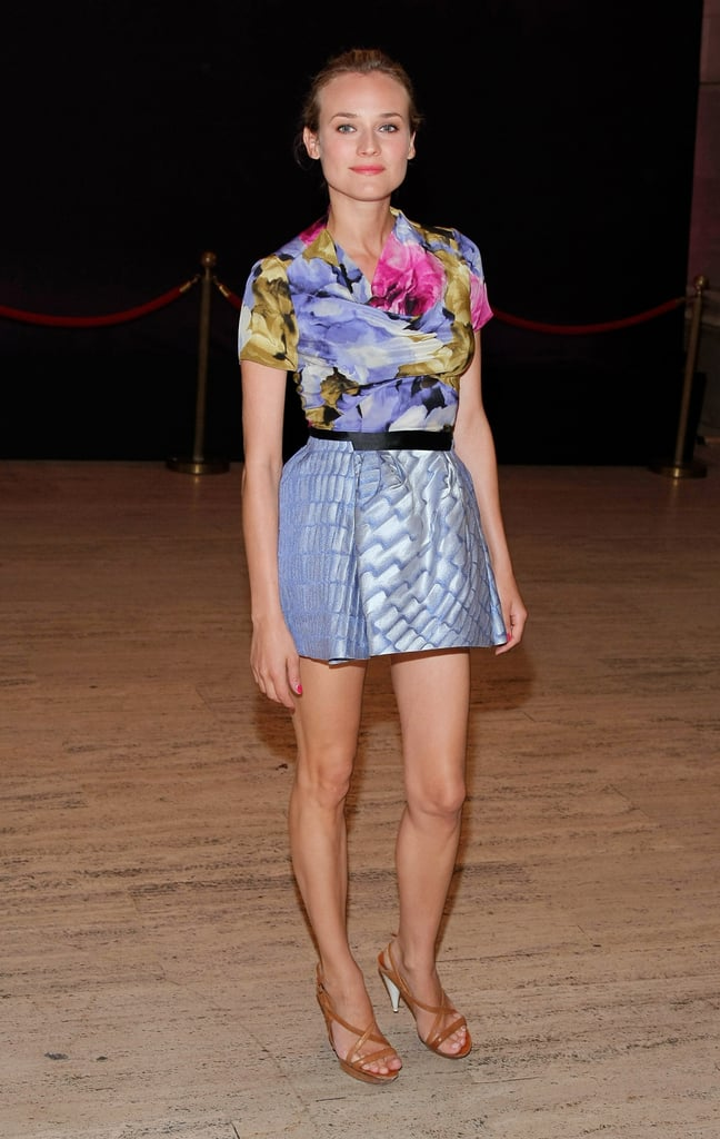In 2008, Diane Kruger rocked a floral-printed minidress at the Diamond Is Forever luncheon.