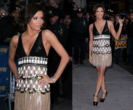Eva Longoria Arriving at The Late Show with David Letterman