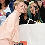 Jennifer Morrison snapped pictures with fans at the August: Osage County premiere.