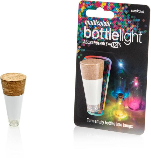 Multicolored Rechargeable Bottle Light