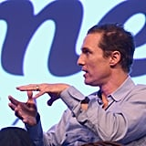 Matthew McConaughey attended a Q&A at SXSW.