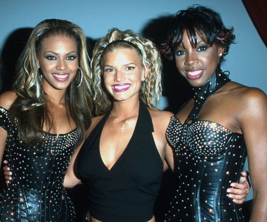 Beyonce, Jessica Simpson, and Kelly Rowland posed together backstage in 2000.