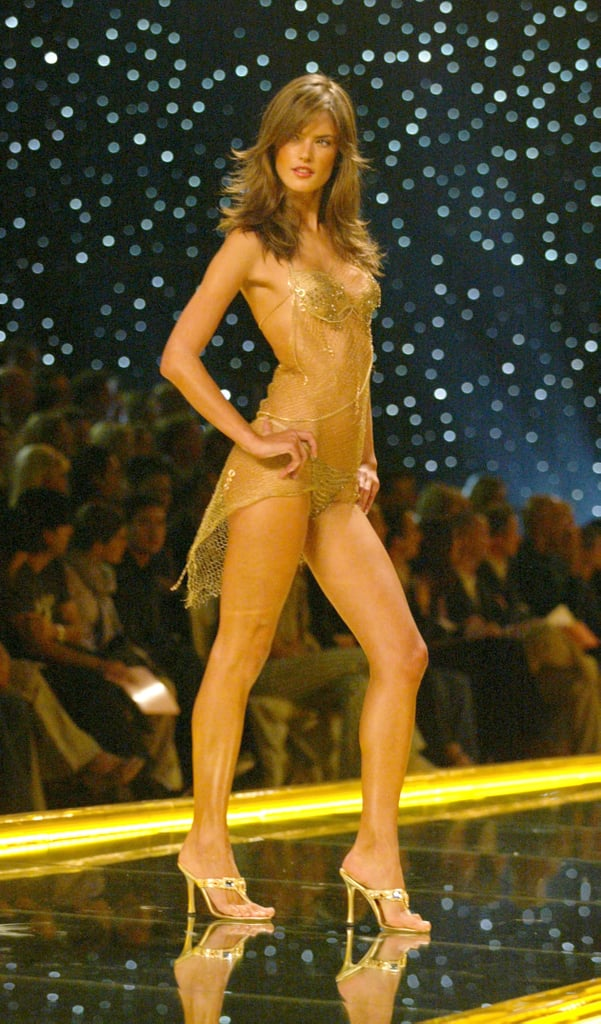 Alessandra Ambrosio was dripping gold in 2002.