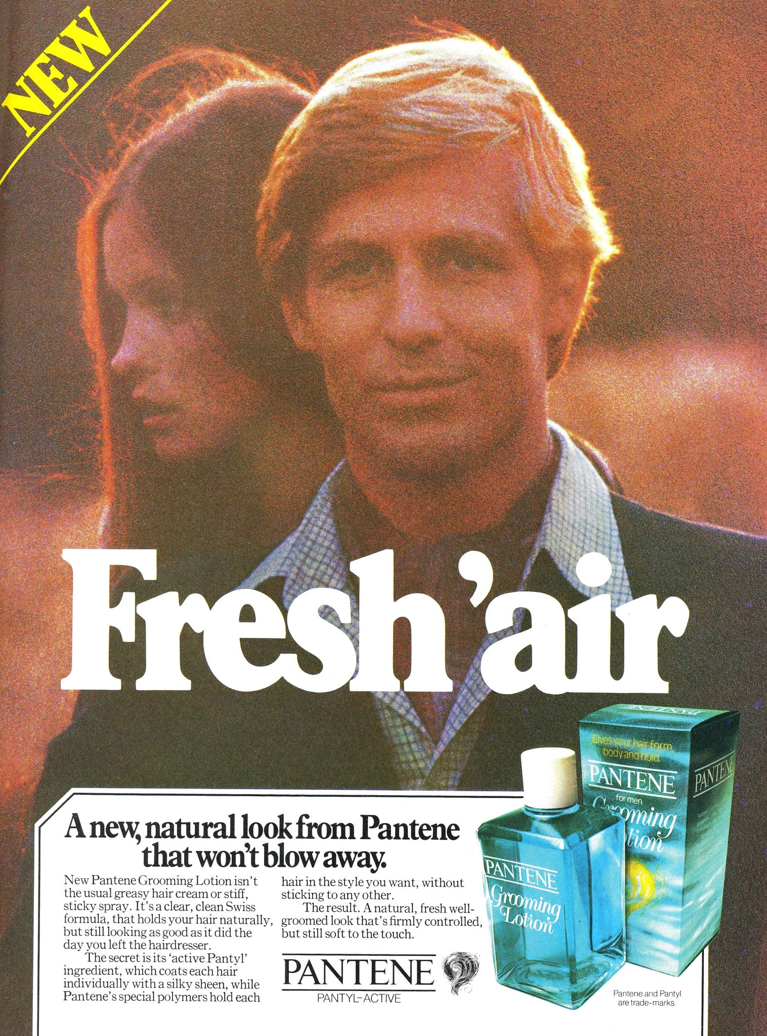 "Yeah, it's definitely that ""fresh 'air"" that makes him one handsome son of a gun."