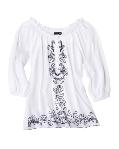 For normal daywear, pair this shorter tunic with cutoffs for shopping in the city.  The Webster at Target Embroidered Tunic  ($30)