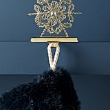 Beaded Snowflake Stocking Holder