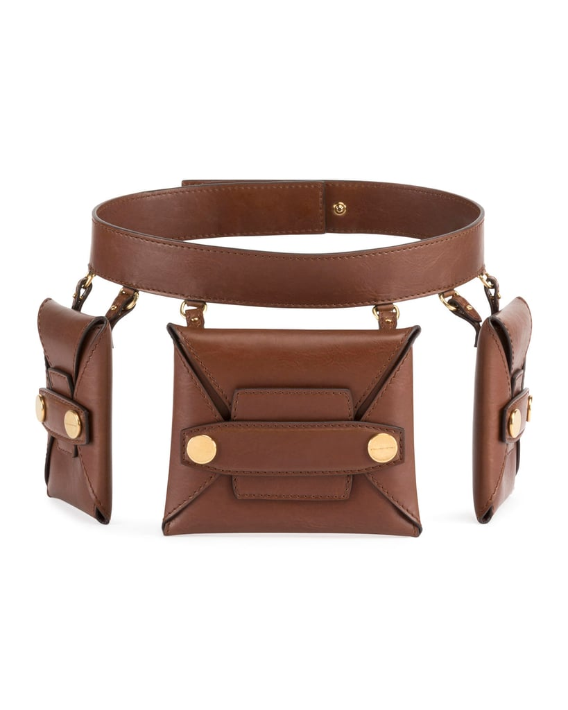 stella mccartney faux leather trio belt bag belt bags