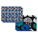 Kukkatori & Appelsiini print reversible placemat set ($20)