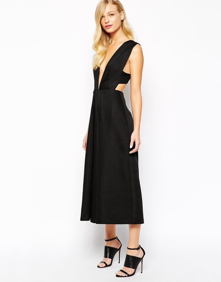 97b2498641e Solace London Anna Culotte Jumpsuit in Waffle Texture