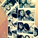 Graham shared some photo-booth pictures with costar Candice Accola and a friend. Source: Instagram user katgrahampics