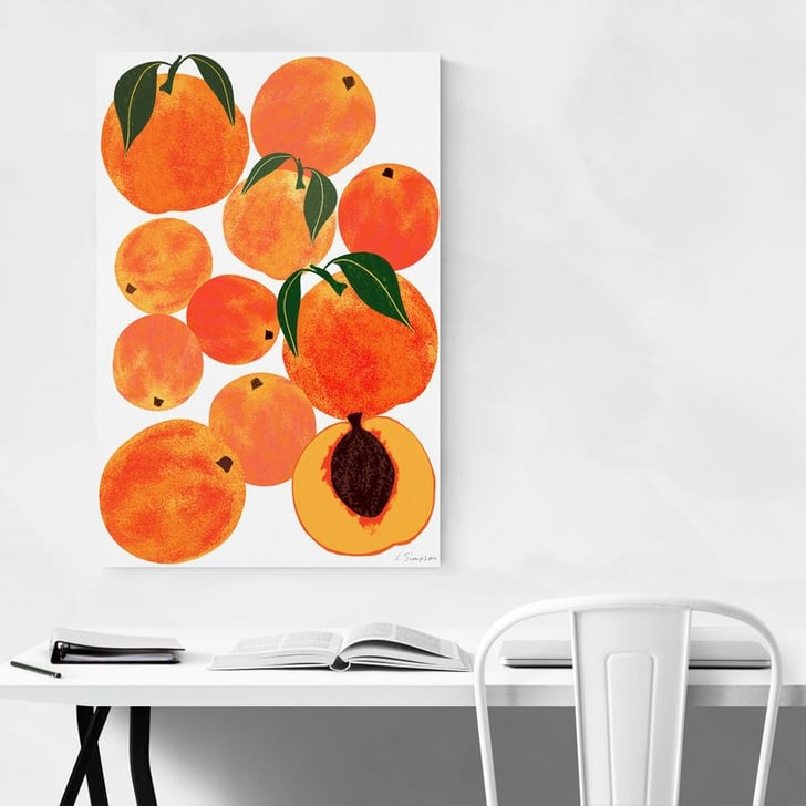Peach Fruit Wall Art Cute Dorm Room Posters Popsugar