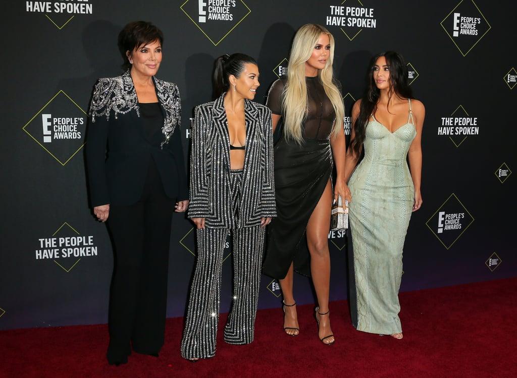 Kim Kardashian in Versace at the 2019 People's Choice Awards