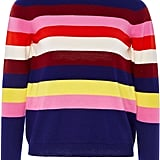 Delpozo Striped Mohair-Blend Sweater
