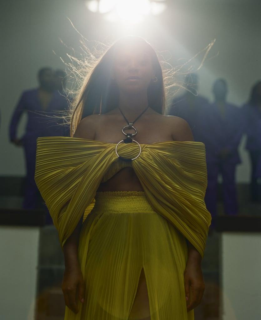 Beyoncé wears custom Balmain by Olivier Rousteing.