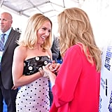 Scarlett Johansson and Julie Hagerty at the 2020 Spirit Awards
