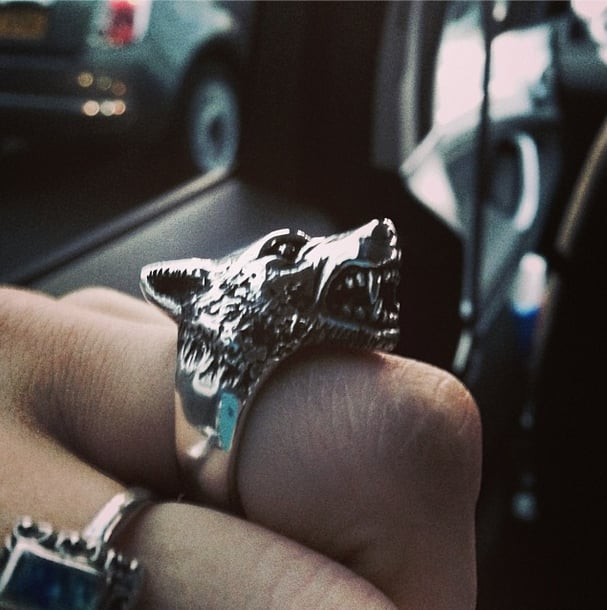 We wouldn't want to mess with any girl wearing this ring. Source: Instagram user eliza_cummings