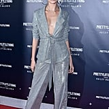 Hailey celebrated her PrettyLittleThing collaboration at a West Hollywood event in November, styling bedazzled separates from the line.