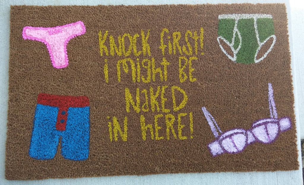 Naked Underwear Doormat ($35)