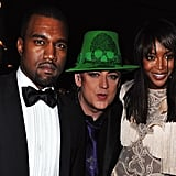 Not While Partying With Boy George and Naomi Campbell