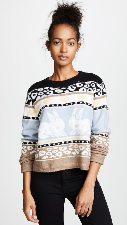 Wildfox Couture Bunny Fair Isle Sweater   Holiday Sweaters 2017 ...